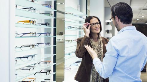 Izbira okvirjev za progresivna očala