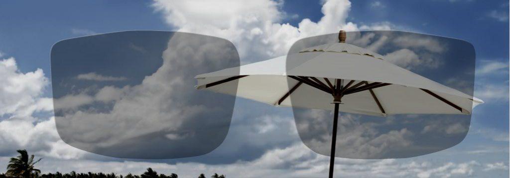 Svetla foto občutljiva očala pri oblačnem vremenu