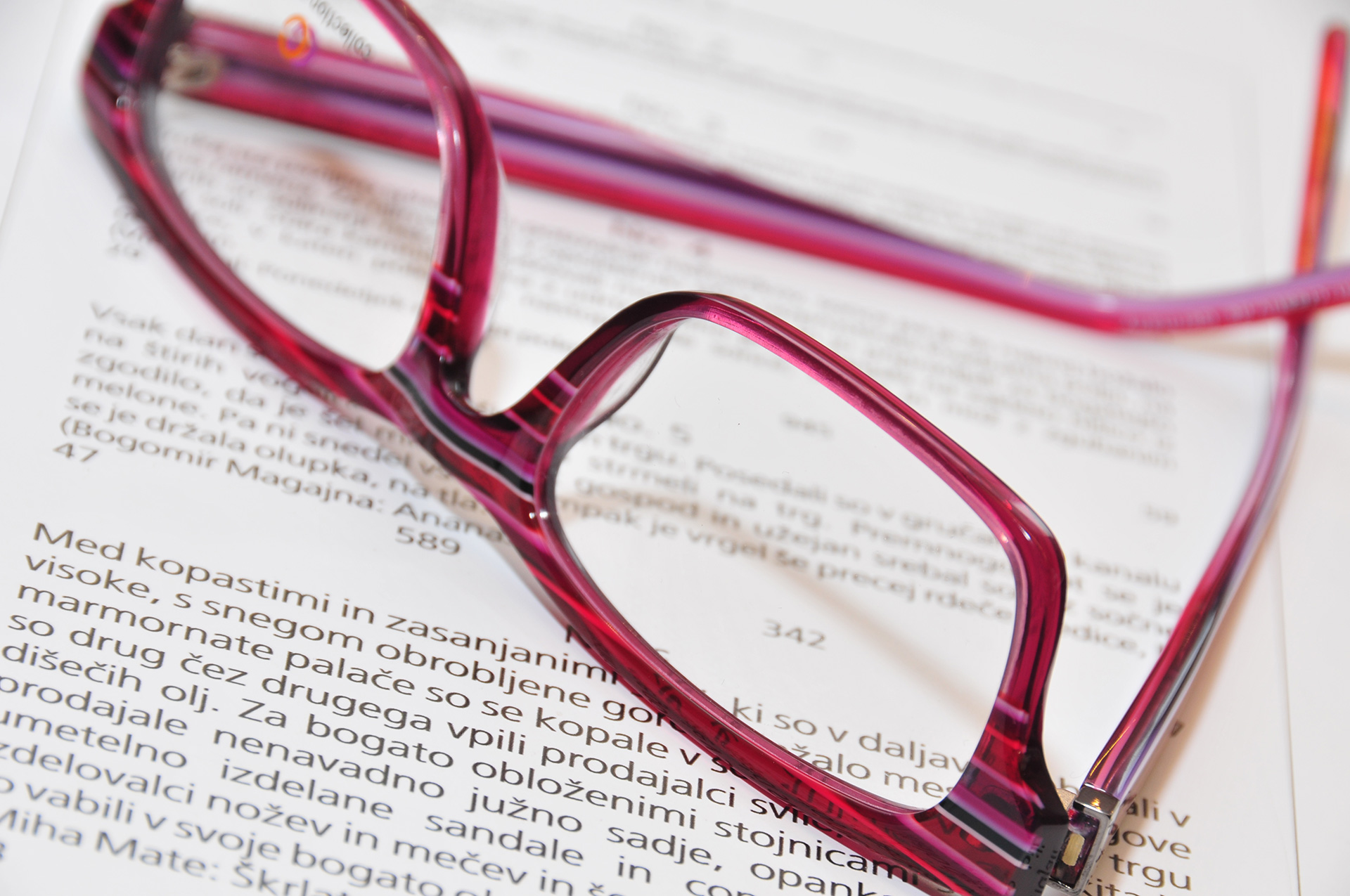 Očala za branje